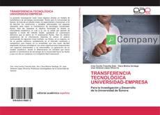 Copertina di TRANSFERENCIA TECNOLÓGICA UNIVERSIDAD-EMPRESA