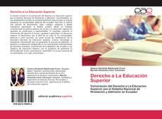 Bookcover of Derecho a La Educación Superior