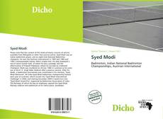 Bookcover of Syed Modi