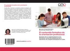Portada del libro de El contenido formativo de la orientación profesional