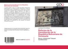 Reforma de la Constitución de la República Bolivariana de Venezuela kitap kapağı