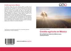 Обложка Crédito agrícola en México