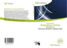 Bookcover of South Africa–Turkey Relations