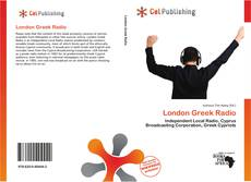 Bookcover of London Greek Radio