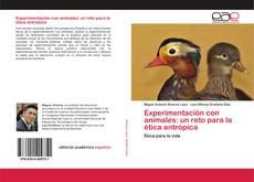 Bookcover of Experimentación con animales: un reto para la ética antrópica