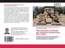 Capa do livro de Hijo deseado inmediato por hombres hondureños, 2011-2012
