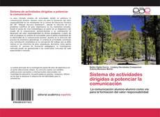 Bookcover of Sistema de actividades dirigidas a potenciar la comunicación