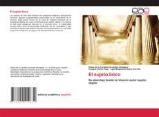 Bookcover of El sujeto lírico