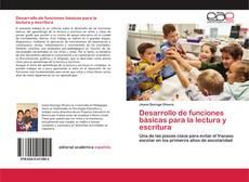 Buchcover von Desarrollo de funciones básicas para la lectura y escritura