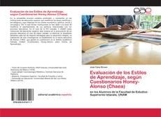 Portada del libro de Evaluación de los Estilos de Aprendizaje, según Cuestionarios Honey-Alonso (Chaea)