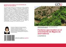 Bookcover of Factores que inciden en el crecimiento de Mypes de aserraderos