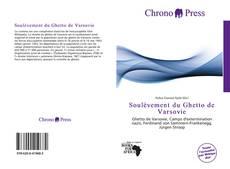 Soulèvement du Ghetto de Varsovie kitap kapağı