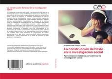 Portada del libro de La construcción del texto en la investigación social