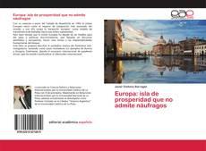 Portada del libro de Europa: isla de prosperidad que no admite náufragos