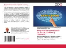 Обложка Preparación económica de los de cuadros y reservas