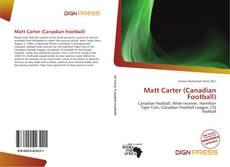 Copertina di Matt Carter (Canadian Football)