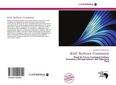 Bookcover of RAF Balloon Command