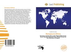 Bookcover of Koreans In Africa