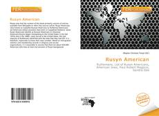 Bookcover of Rusyn American