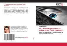 La Criminalización de la pobreza en Gran Hermano的封面