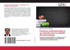 Portada del libro de Factores motivacionales y su relación con la calidad del aprendizaje