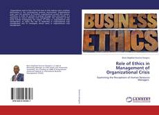Copertina di Role of Ethics in Management of Organizational Crisis