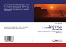 Buchcover von Governance for Sustainability in Public Institutions