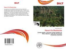 Bookcover of Henri II d'Autriche