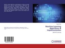 Buchcover von Machine Learning Algorithms & Implementation