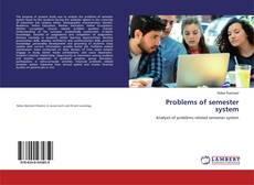 Couverture de Problems of semester system
