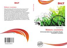 Bookcover of Watson, Louisiana