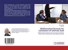 Bookcover of Mathematical formula for calculation of ultimate load