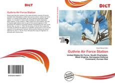 Capa do livro de Guthrie Air Force Station
