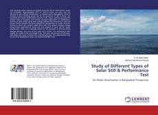 Bookcover of Study of Different Types of Solar Still & Performance Test