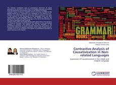 Bookcover of Contrastive Analysis of Causativization in Non-related Languages