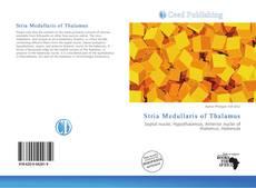 Обложка Stria Medullaris of Thalamus