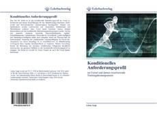 Konditionelles Anforderungsprofil kitap kapağı