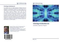 Bookcover of Gleichgewichtstheorie