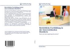 Portada del libro de Betriebliche Fortbildung in der österreichischen Hotellerie