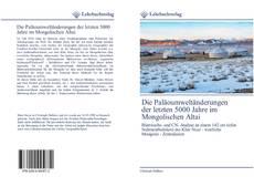 Couverture de Die Paläoumweltänderungen der letzten 5000 Jahre im Mongolischen Altai
