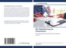 Die Digitalisierung im Finanzsektor kitap kapağı