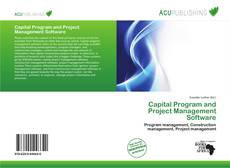 Bookcover of Capital Program and Project Management Software