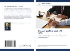Buchcover von Die Anzeigepflicht nach § 78 StPO