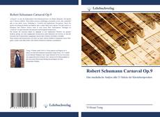Robert Schumann Carnaval Op.9的封面