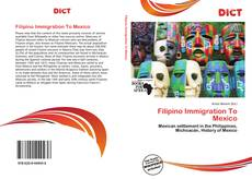 Filipino Immigration To Mexico kitap kapağı