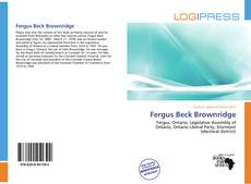 Fergus Beck Brownridge kitap kapağı