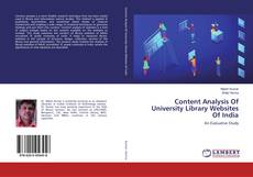 Bookcover of Content Analysis Of University Library Websites Of India