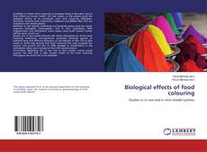 Buchcover von Biological effects of food colouring