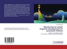 Capa do livro de Monitoring of verbal-lingvistic development of preschool children