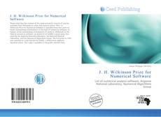 Bookcover of J. H. Wilkinson Prize for Numerical Software